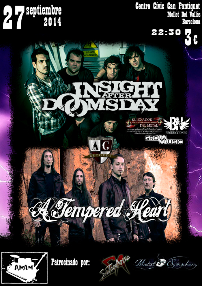 Insight After Doomsday + A Tempered Heart Centre Cívic Can Pantiquet (Mollet Del Vallès (Barcelona))