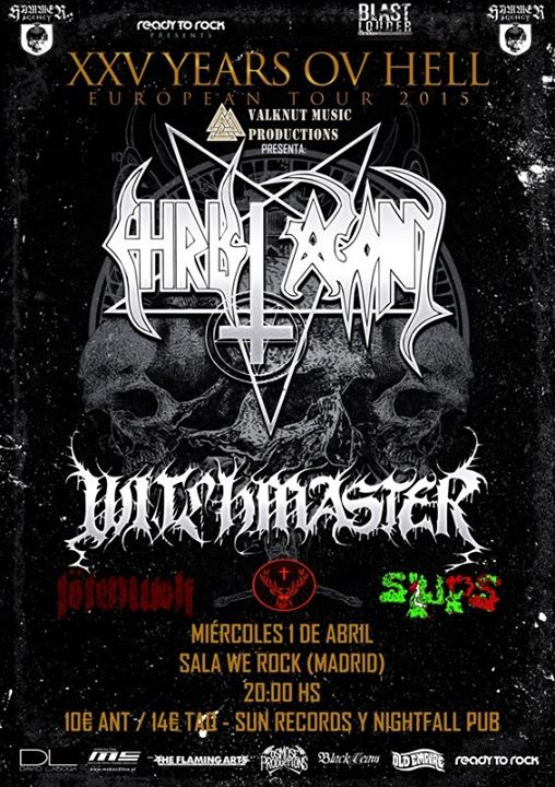 Christ Agony + Witchmaster + Tötenwolf + Slups We Rock (Madrid)