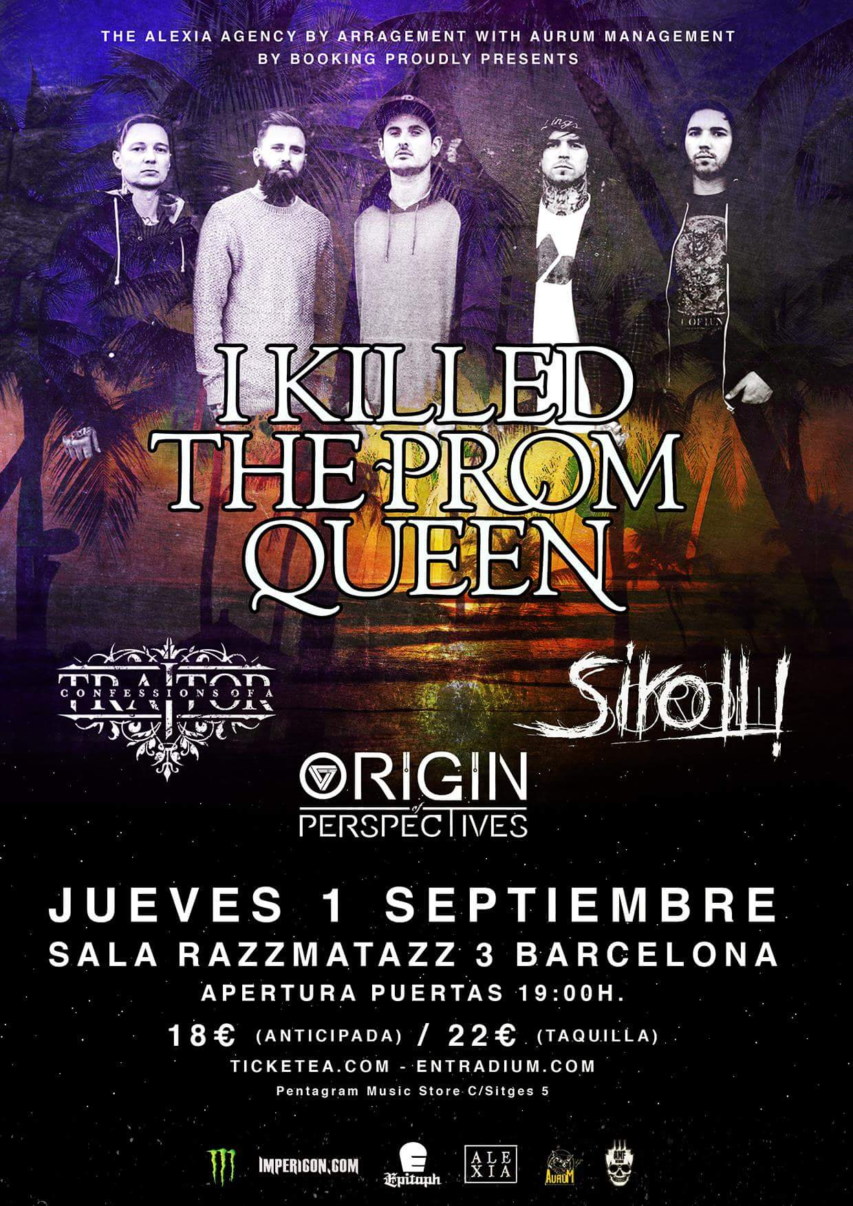 I Killed The Prom Queen + Confessions Of A Traitor + Siroll! + Origin Of Perspectives Razzmatazz 3 (Barcelona)