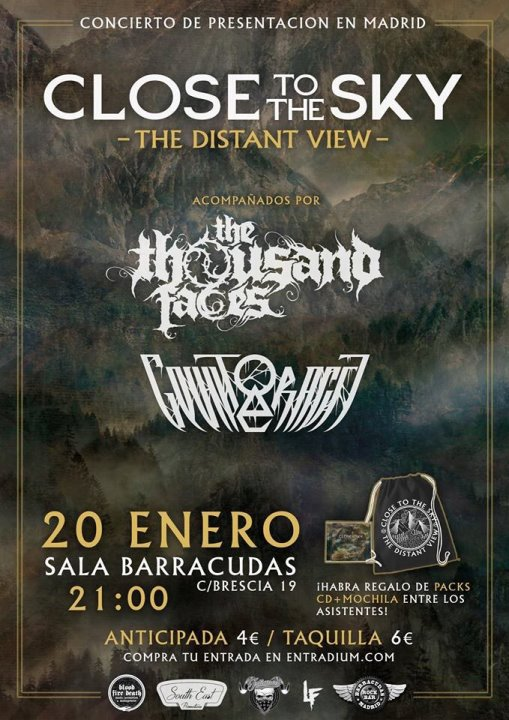 Close to the Sky + The Thousand Faces + Counteractt Barracudas (Madrid)