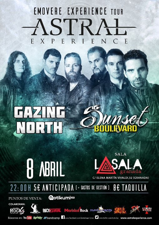 Astral Experience + Gazing North + Sunset Boulevard La Sala (Granada)