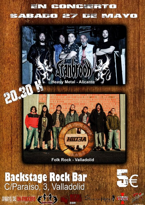 Stanbrook + Hid3a Backstage Rock Bar (Valladolid)