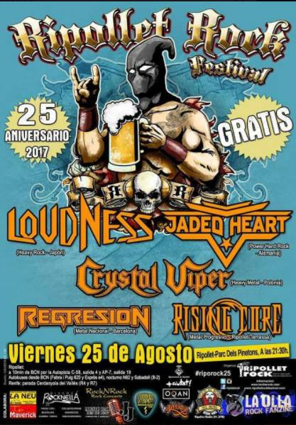 Loudness + Crystal Viper + Jaded Heart + Regresion + Rising Core Parc dels Pinetons (Ripollet)