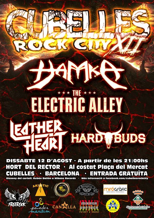 Hard Buds + Hamka + The Electric Alley + Leather Heart Hort Del Rector (Cubelles (Barcelona))