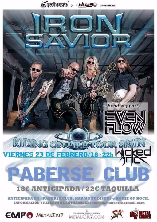 Iron Savior + Even Flow + Wicked Inc. Paberse Matao (Sedaví (Valencia))