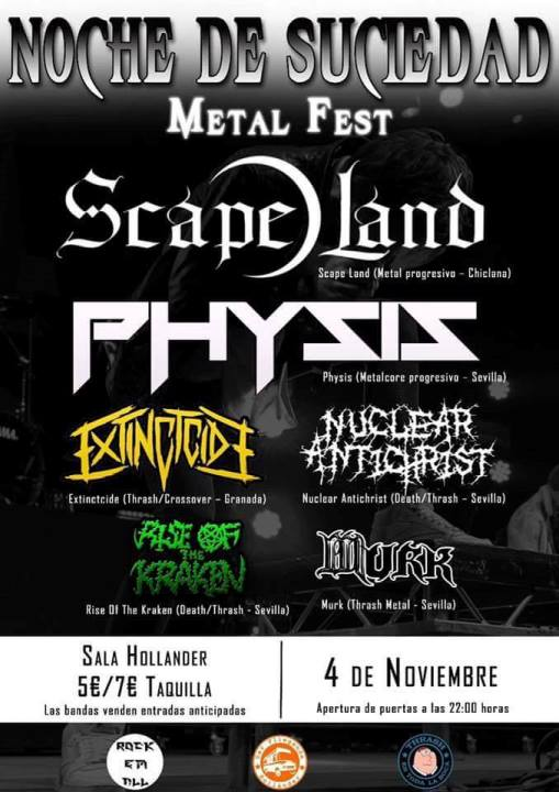 Scape Land + Physis + Extinctcide + Nuclear Antichrist + Rise of the Kraken + Murk