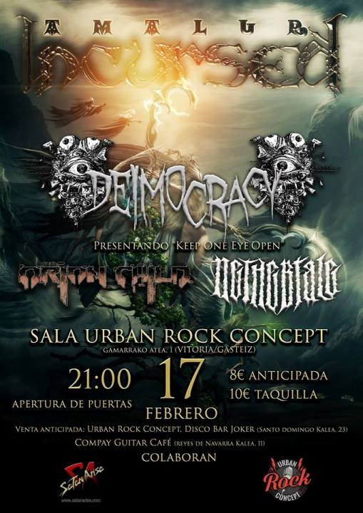 Incursed + Deimocracy + Orion Child + Nethertale Urban Rock Concept (Vitoria)