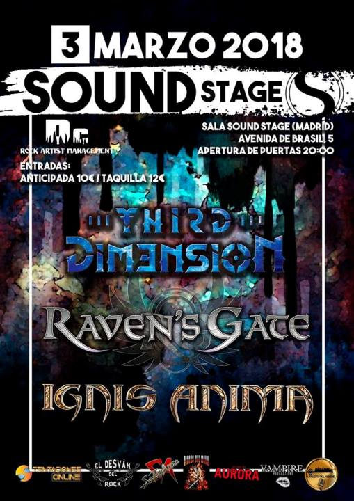 Third Dim3nsion + Raven's Gate + Ignis Anima Sound Stage (Madrid)