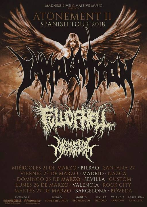 Immolation + Full of Hell + Monument of Misanthropy Nazca (Madrid)