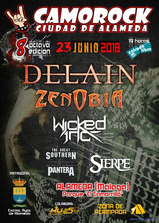 Delain + Zenobia + Wicked Inc + The Great Southern + Sierpe Zona de Acampada (Alameda)