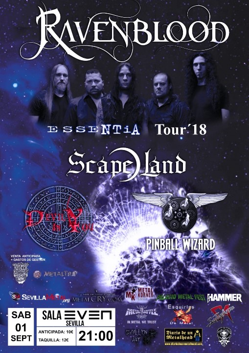 Ravenblood + Scape Land + Devil In You + Pinball Wizard Even (Sevilla)