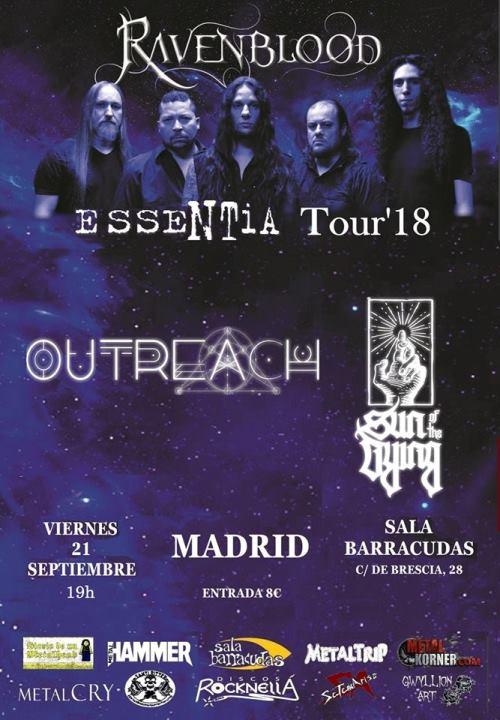Ravenblood + Outreach + Sun of the Dying Barracudas (Madrid)