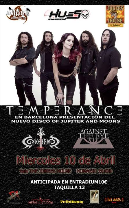 Temperance + Conkheror + Against the Eye The Jokers House (Barcelona)