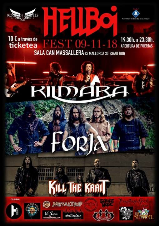 Kilmara + Forja + Kill the Krait Can Massallera (Sant Boi)