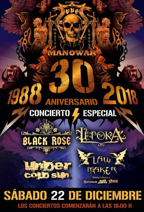 Black Rose + Lepoka + Under Cold Sun + Law Maker Pub Manowar (Castellón)