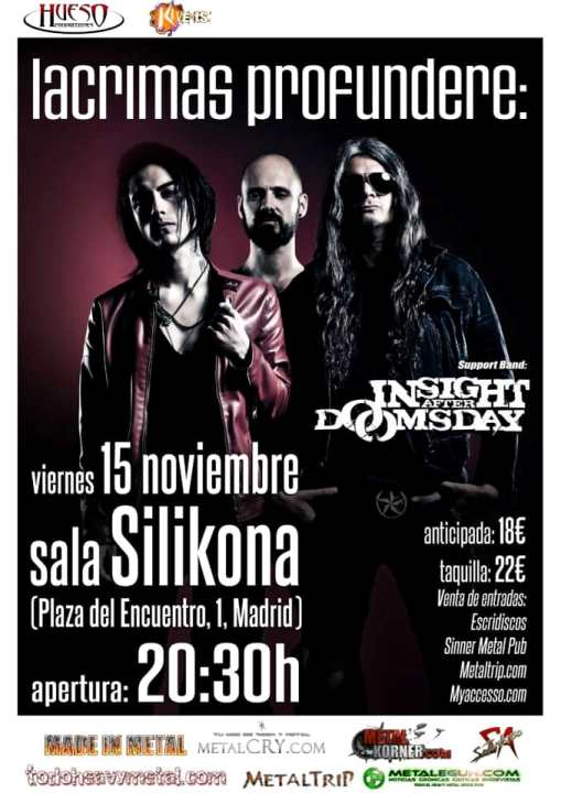 Lacrimas Profundere + Insight After Doomsday Silikona (Madrid)