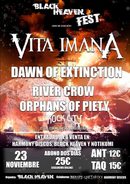 Vita Imana + Dawn of Extinction + River Crow + Orphans of Piety