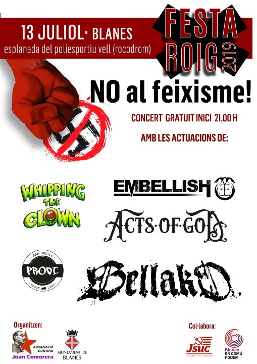 Embellish + Whipping the clown + Acts of God + Prodi + Bellako