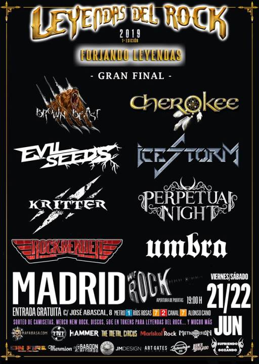 Brown Beast + Cherokee + Evil Seeds + Icestorm We Rock (Madrid)