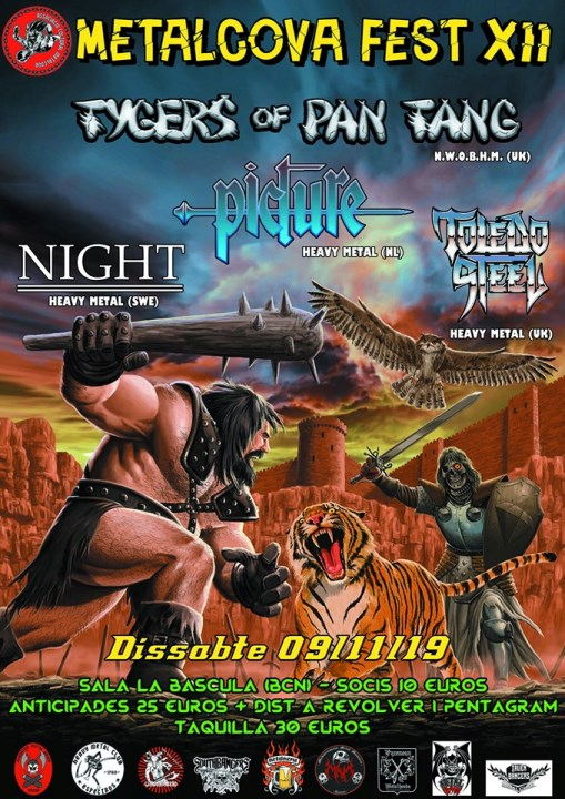 Tygers of Pan Tang + Picture + Night + Toledo Steel
