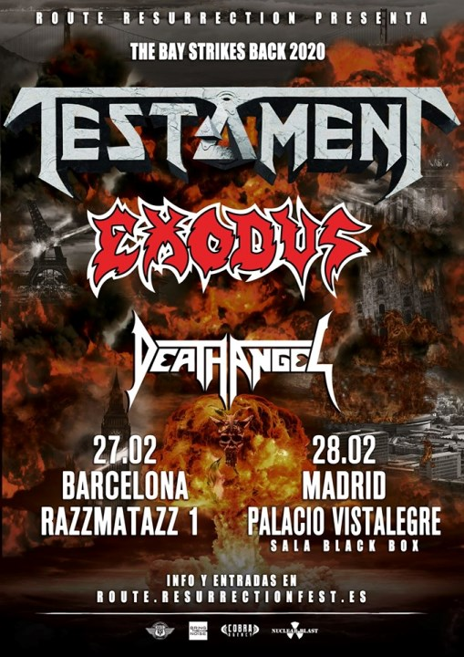 Testament + Exodus + Death Angel Razzmatazz (Barcelona)