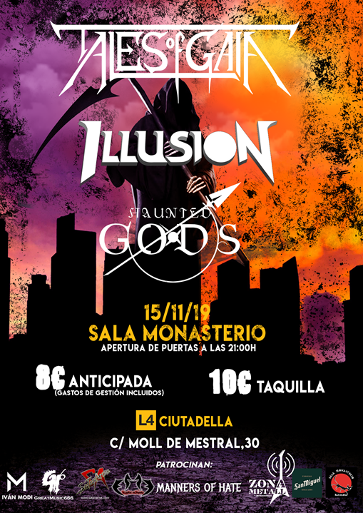 Tales of Gaia + Illusion + Haunted Gods Monasterio (Barcelona)