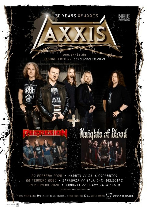 Axxis + Regresion + Knights of Blood Copérnico (Madrid)