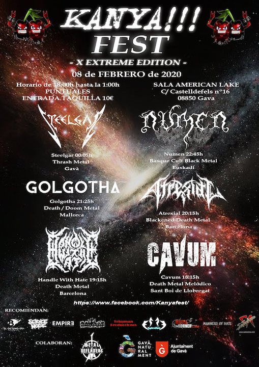 Steelgar + Numen + Golgotha + Atrexial + Handle With Hate + Cavum American Lake (Gavà)