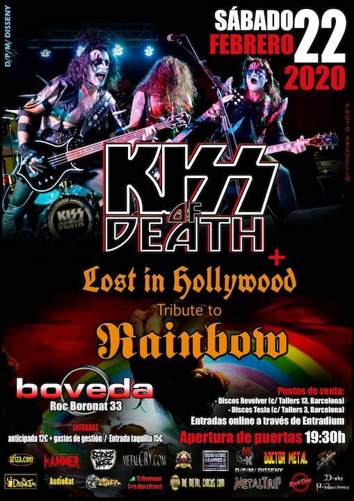Kiss of Death + Lost in Hollywood Bóveda (Barcelona)