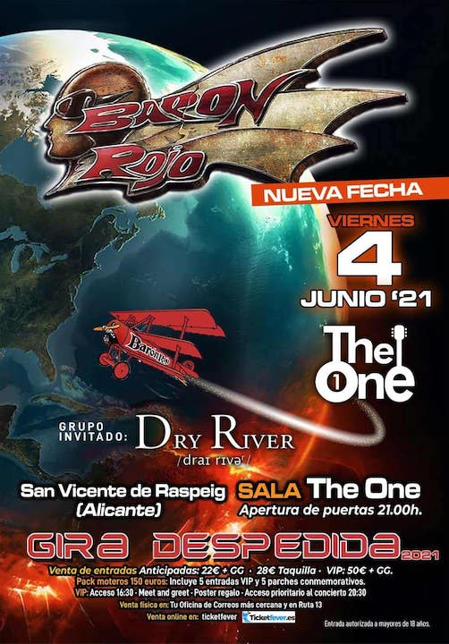 Baron Rojo + Dry River The One (St.Vicent del Raspig (Alicante))
