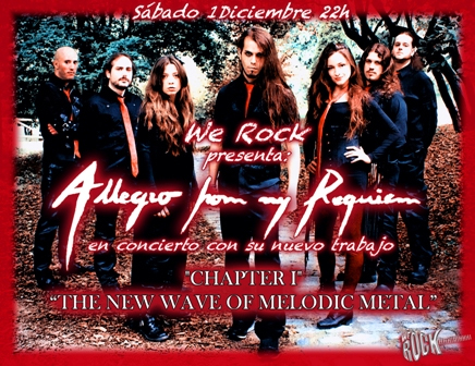 Allegro from my requiem 01 12 2012 sala we rock madrid for Sala we rock
