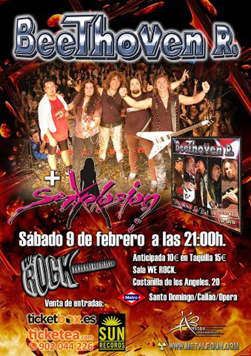 Beethoven r sexplosion 09 02 2013 sala we rock madrid for Sala we rock