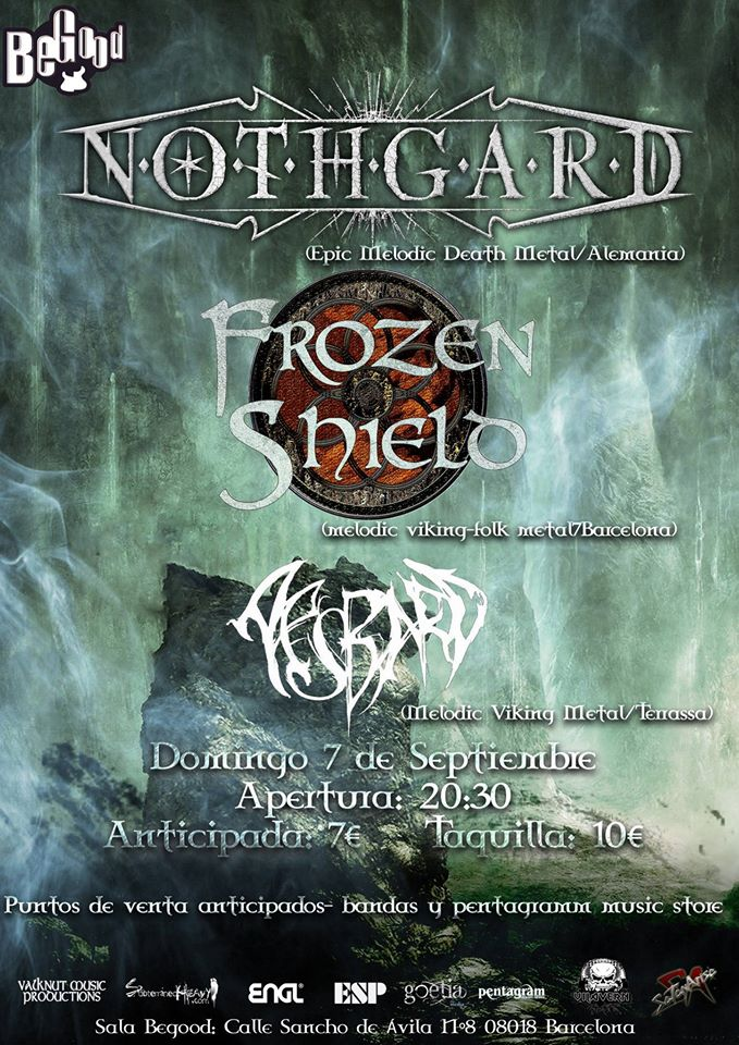 Nothgard + Frozen Shield + Aesbard - 7/09/2014 Sala BeGood (Barcelona)