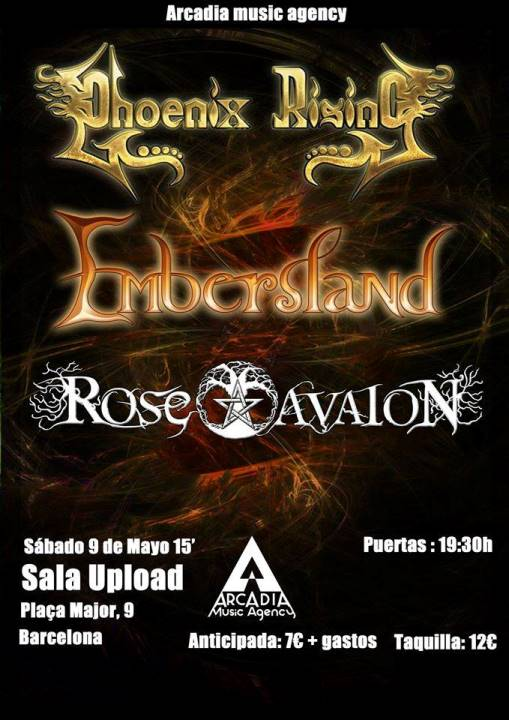 Rose Avalon + Phoenix Rising + Embersland - 9/5/2015 Sala Upload (Bcn)