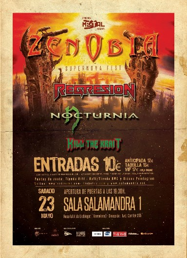 Kill the Krait + Nocturnia + Regresion + Zenobia - 23/5/2015 Salamandra (L'Hosp.)