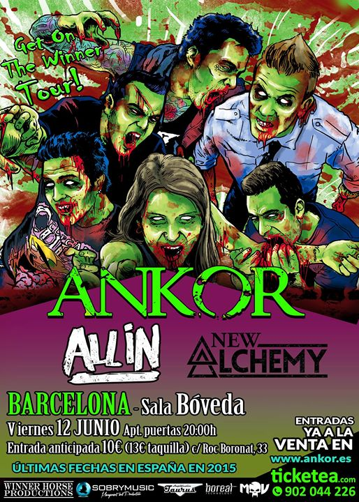 Ankor + New Alchemy + All In - 12/06/2015 Sala Bóveda (Barcelona)