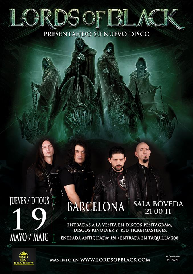 Lords Of Black - 19/05/2016 Sala Bóveda (Barcelona)