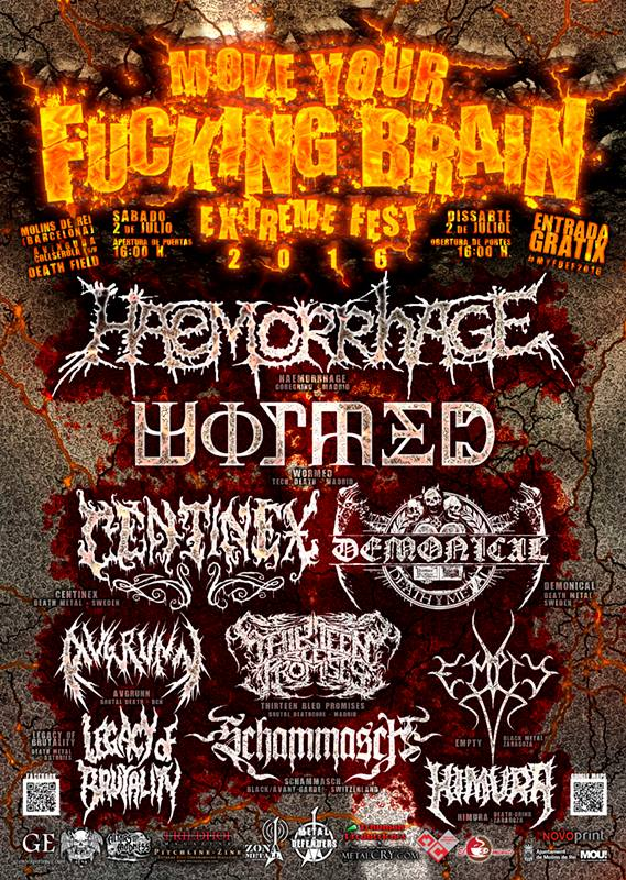 Move Your Fucking Brain Extreme Fest 2016 - 02/07/2016 Molins De Rei (Barcelona)