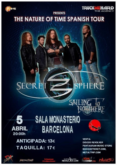 Secet Sphere + Sailing to Nowhere - 05/04/2018 - Sala Monasterio (Bcn)