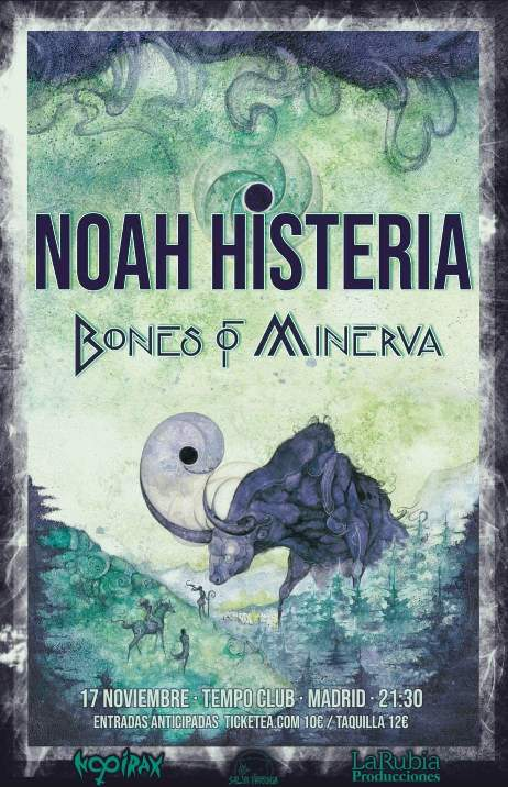 Bones of Minerva + Noah Histeria - 17/9/2018 - Tempo Club (Madrid)