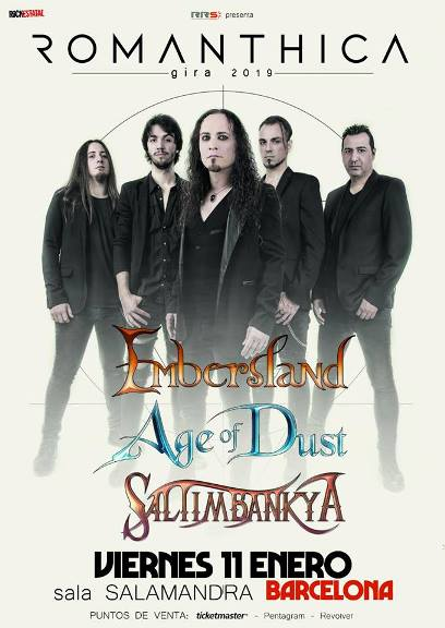 Romanthica + Embersland + Age of Dust + Saltimbanky - 11/01/2019 - Salamandra (L'Hospitalet (Bcn))