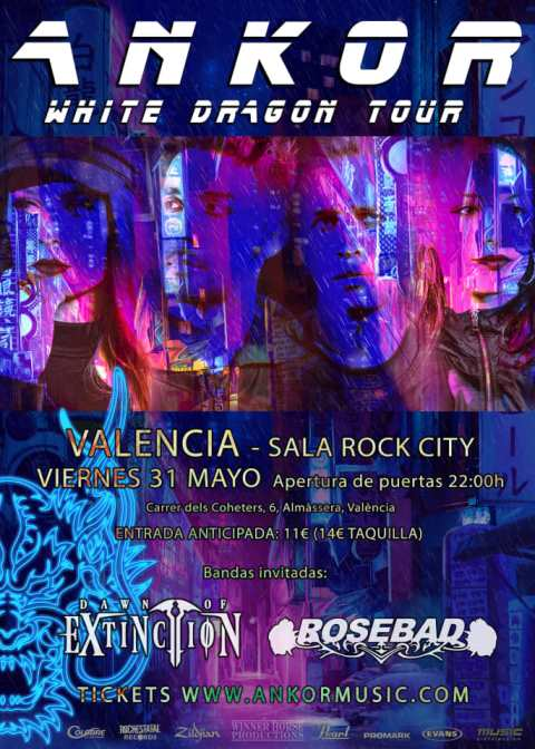 Ankor + Dawn of Extinction + Rosebad - 31/05/2019 - Rock City (Valencia)