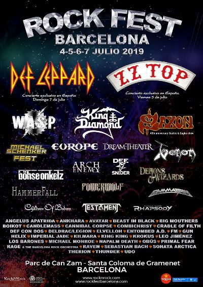 Rock Fest 2019 - 4-5-6-7/7/2019 - Can Zam (Santa Coloma (Bcn)) Pt.1