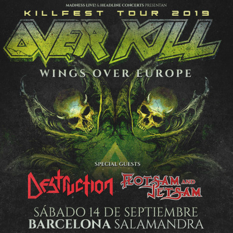 Rezet + Flotsam And Jetsam + Destruction + Overkill - 15/09/2019 - Salamandra (L'Hospitalet (Bcn))