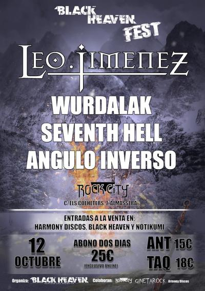 Black Heaven Fest / Leo Jiménez + 7th Hell + Angulo Inverso + Wurdalak - 12/10/2019 - Rock City (Valencia)