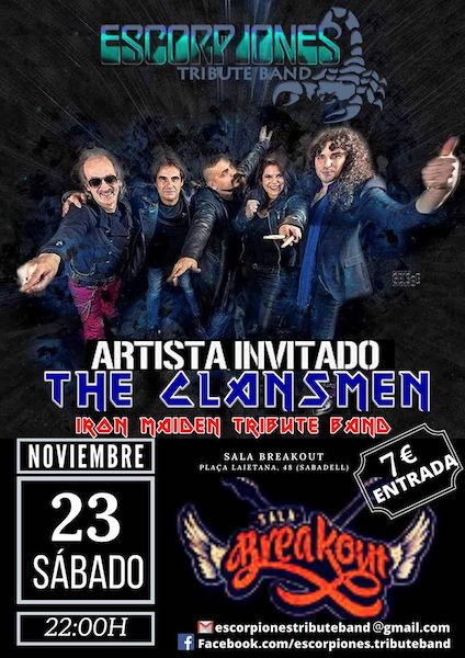 Escorpiones - The Clansmen - 23/11/2019 - Sala Breakout (Sabadell)