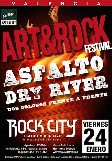 Asfalto + Dry River - 24/01/2020 - Rock City (Valencia)