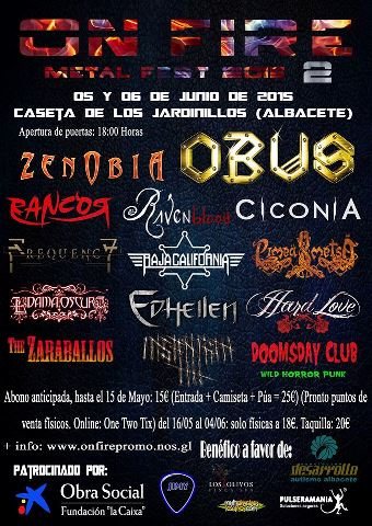 On Fire Metal Fest 2: Noticias importantes