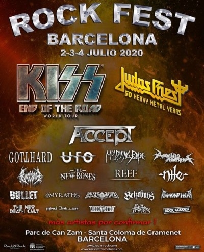 Kiss se despedirán en Rock Fest Barcelona 2020